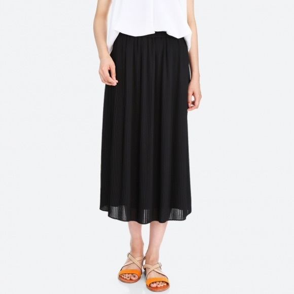 7d2c5cc000 Uniqlo Skirts | High Waist Chiffon Pleated Skirt Black S | Poshmark
